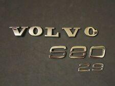 2000 VOLVO S80 2.9 REAR TRUNK CHROME EMBLEM LOGO 00