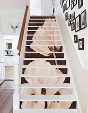 3D White Petals Stair Risers Decoration Photo Mural Vinyl Decal Wallpaper US