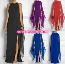 USA  Women Chiffon Batwing Sleeve Side Split Evening Long Maxi  Prom Party Dress