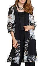 UK Sizes 8-22 (eu 34-48) Ladies long Sheer Cardigan Kimono in black and leopard