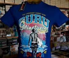 T-shirt maglia uomo Guru manica corta girocollo con stampa logo surf art G992153
