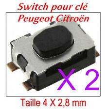 2x Switch bouton de clé pliante Peugeot 207 308 407 807 1007 3008 RCZ 4007 5008