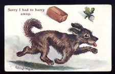 LOUIS WAIN Artist signed Dog 1929 Comic PPC