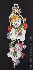PLAUENER SPITZE ® Fensterbild SCHNEEMANN Weihnachten WINTER Kinder Dekortation