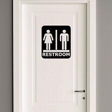 Unisex Public Restroom Bathroom Sign Business Store Window Wall Decal Sticker