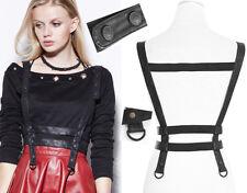 Bretelles ceinture harnais gothique punk steampunk cuir sangles boutons Punkrave