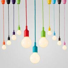 Pendentif plafond support de lampe a suspension caoutchouté coloré E27
