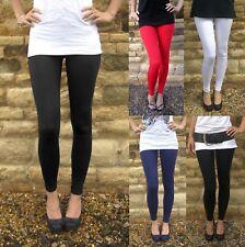 Pantalones Leggings De Viscosa de larga longitud Negro Talla 6 8 10 12 14 16 18 20 22 24 De Alto