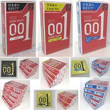 Okamoto 0.01 mm Thin Condom 001 Zero One Ultra Thinnest Skinless Japan W/ Track