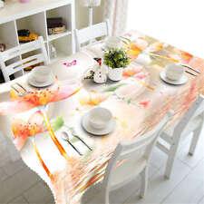 Transparent Petal3D Tablecloth Table cover Cloth Rectangle Wedding Party Banquet