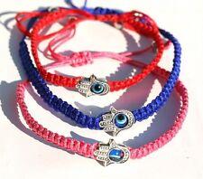 LOT Kabbalah Bracelets Hamsa Hand Judaica Luck Evil Eye Protection Colors Choice