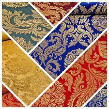 "Or Métallique Ornement indien en soie synthétique Banarsi Brocade Fabric 44"" Wide M807"