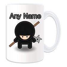 Personalised Gift Ninja Stick Shuriken Mug Money Box Cup Ninjutsu Japan Name Boy