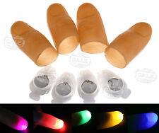 4 Pcs Magic Light Up Flashing Thumb Props Fingers LED Trick Finger Lights Novel