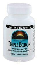 SOURCE NATURALS, Triple Boron 3mg capsules - 100 caps