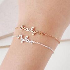 Personalized DIY Handwriting Custom Name Stainless Steel Bracelet Christmas Gift
