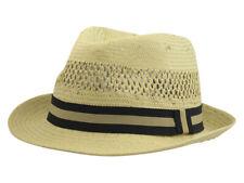 Henschel Men's Vented Toyo Straw Fedora Hat