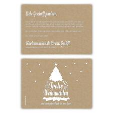 Weihnachtskarten Firmen Grußkarten Weihnachten - Kraftpapier Weihnachtsbaum Weiß
