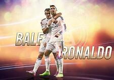 Cristiano RONALDO & GARETH BALE POSTER REAL MADRID FOTO STAMPA POSTER A3 A4