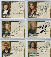 Jericho Season 1 Autograph And Pieceworks Card Selection NM Inkworks 2007