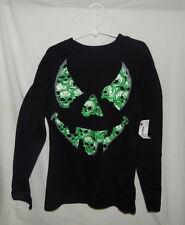 Boys Skulls Scary Face Long Sleeve Shirt  NWT