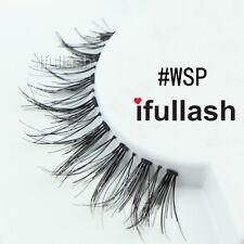 #WSP 6 or 12 pairs of ifullash 100% human hair Eyelashes- BLACK