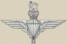 "Parachute Regiment Army Cross Stitch Design (8x5"", 20x13cm,kit or chart)"