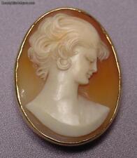 Beautiful Antique 14k Gold Cameo Pendant/Brooch