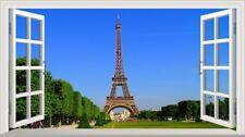 Paris Eiffel Tower Magic Window Wall Smash Wall Art Self Adhesive Vinyl V2*