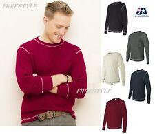 J. America - Vintage Long Sleeve Thermal T-Shirt Mens Tee  8238