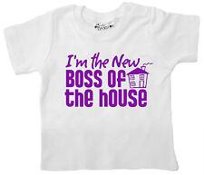 """marrant bébé T-shirt """" I'm the NEUF BOSS OF HOUSE """" nouveau-né Vêtements cadeau"""