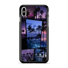 Ciudad de playa exótica isla vida nocturna palmeras Collage 2D Teléfono Estuche Cubierta