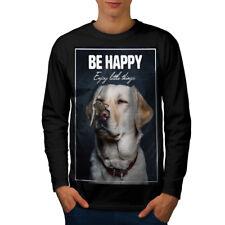 Être heureux Labrador Chien Hommes T-shirt à manches longues Nouveau | wellcoda