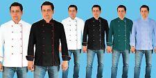 Adam Executive Uniform Jacket Men Chef Catering Kitchen Long Sleeve Pen Pocket