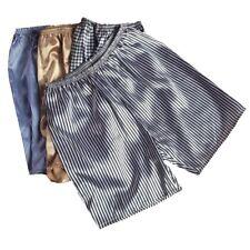 Hommes Satin Boxer Short Chemise de Nuit Sous-Vêtement Bas Fausse Soie Pyjama