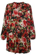 X Two Red Bluse Tunika Cailen Damen Plusgröße Lagenlook