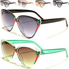 864e8493a3337 Gafas de sol de diseño de lujo de ojo de gato Clásico Rojo Verde señoras  para mujer de estilo vintage y retro