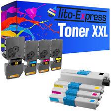 Set 4 Toner für Dell C2660 Kyocera TK-580 TK-590 Lexmark CS310 Oki C332 C532