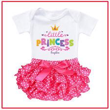 Personalised Customised Baby Shower Romper Ruffle Princess Name Photo Newborn