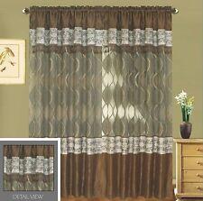 Luxury Lined Curtain Set Drapes +Valance Window Treatment 2 Panel 5 Colors Rome