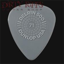 Dunlop Delrin Prime Grip Guitar Picks Plectrums 0.71mm Grey - 1 to 24 Picks