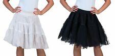 Kostüm Tüllrock Petticoat Spitzen Rock schwarz od weiß Karneval Fasching NEU