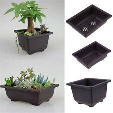 Flower Pot Balcony Square Basin Home Bonsai Plant Bowl Nursery Planter Tray S L