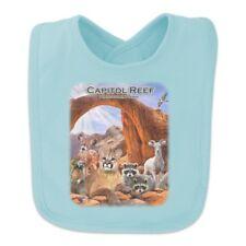 Capitol Reef National Park Utah Ut Cougar Prairie Dog Deer Raccoon Baby Bib