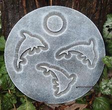 plastic dolphin plaque mold garden plaque / stepping stone casting garden mold