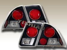 01 02 03 04 Honda Civic Tail Lights Black 4 pcs Sedan