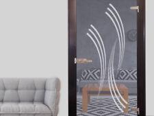 Glasdekor Glastür Aufkleber Fensterfolie für Wohnzimmer Streifen Retro