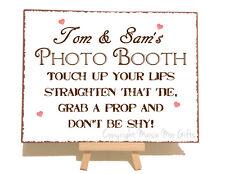 Personalizzata Photo Booth WEDDING Metallo Vintage Shabby Chic Stile Targa Sign