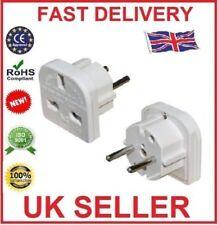 UK To EU Euro Europe European Travel Adaptor Plug 2 Pin Adapter
