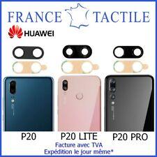 Lentille en Verre + Adhésif pour Caméra Appareil Photo Huawei P20 / Lite / Pro